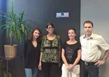 L'équipe de l'agence Togneri Axa au complet, de gauche à droite : Solène, Isabelle, Cathy et Frédéric.